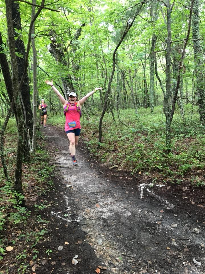 Trail running at Hanging Rock State Park. Photo Credit: Taylor Libby