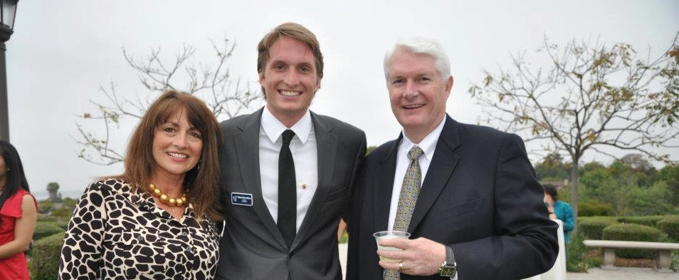 Robert Breedlove, San Diego '12, with his parents (Tim & Melanie) at the 2012 Beta Toast