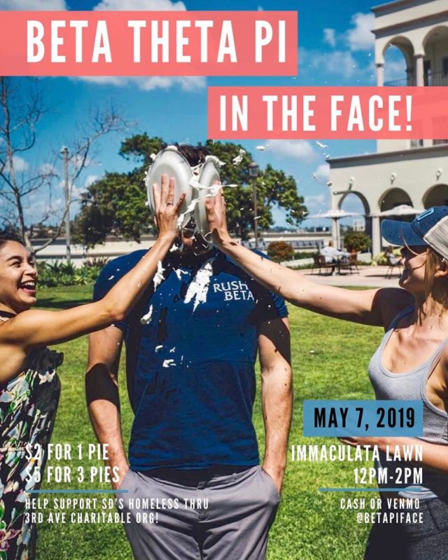 Come out and support the Alpha Epsilon Pledge Class in their philanthropy event TOMORROW during dead hours. 12-2 at the Immaculata Lawn! All proceeds go toward T.A.C.O., a local org helping support the SD homeless community.