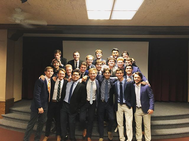Huge congrats to our 21 newly initiated brothers! #🐉