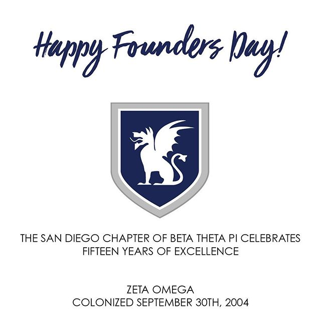 On this day we look back to recognize the great men who colonized this amazing fraternity at the University of San Diego. Happy Founders Day!