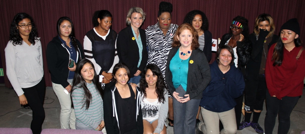 """Girls from the Boys and Girls Club of Venice, CA at the Beverly Hills screening of """"Feminist: Stories from Women's Liberation"""""""
