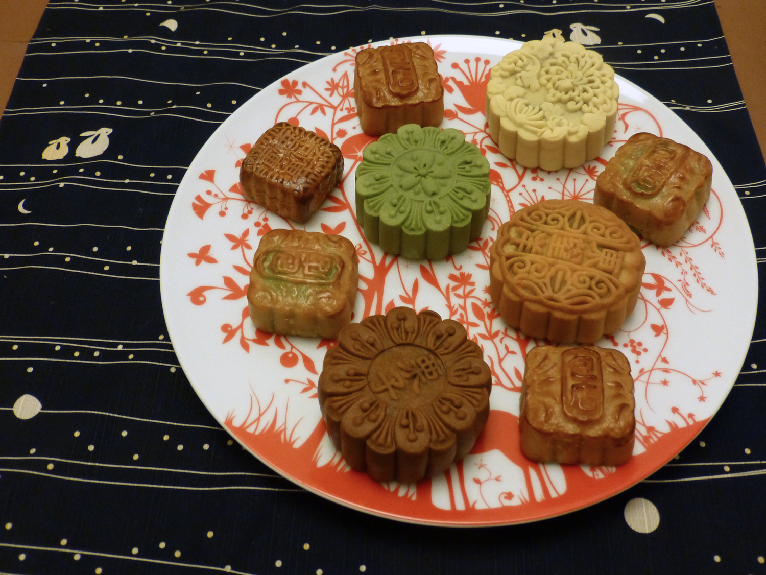 Assorted moon cakes
