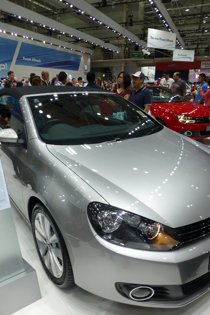 Golf Cabriolet - now this is something we'd both like to run around in.