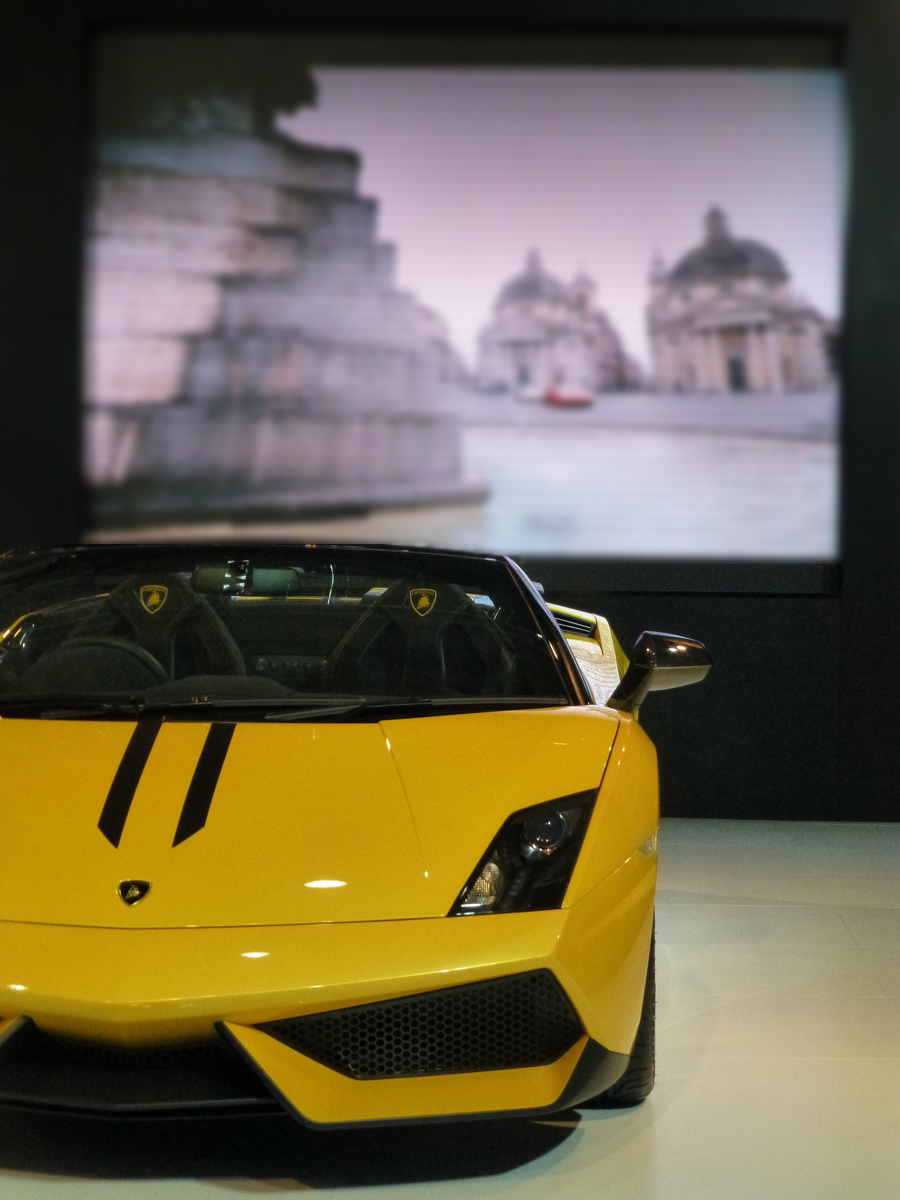Keeping with the lambo theme and scenes of Roma