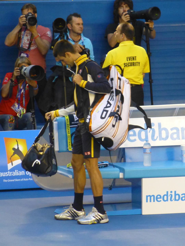 Novak arrives