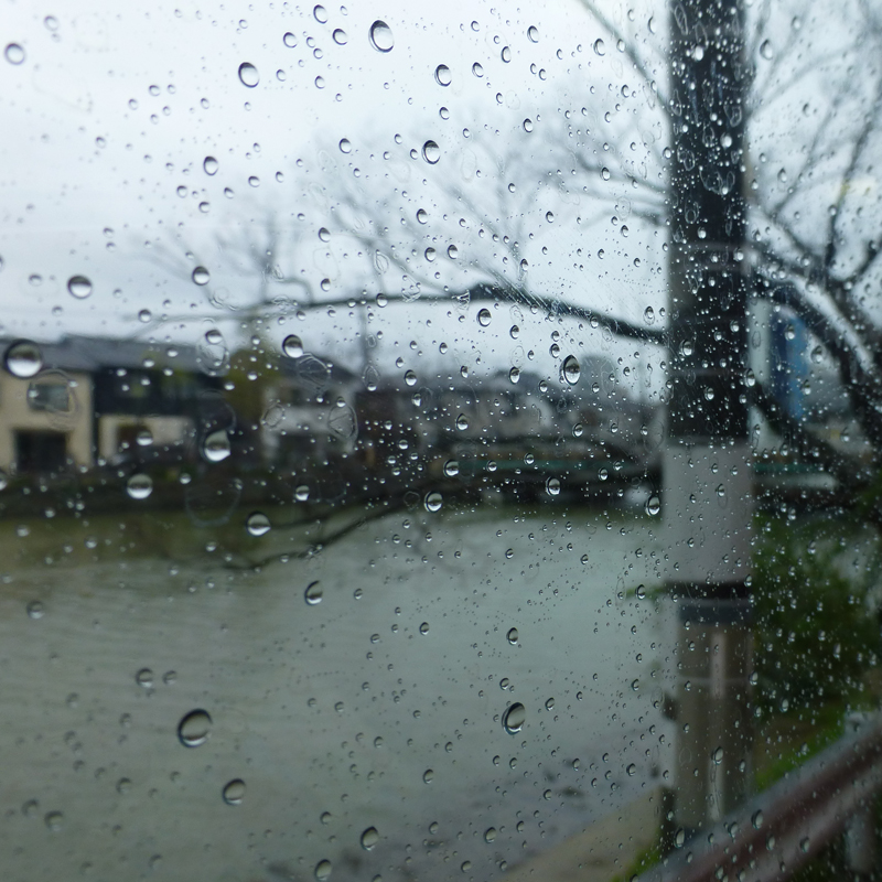A rainy day in Matsue.