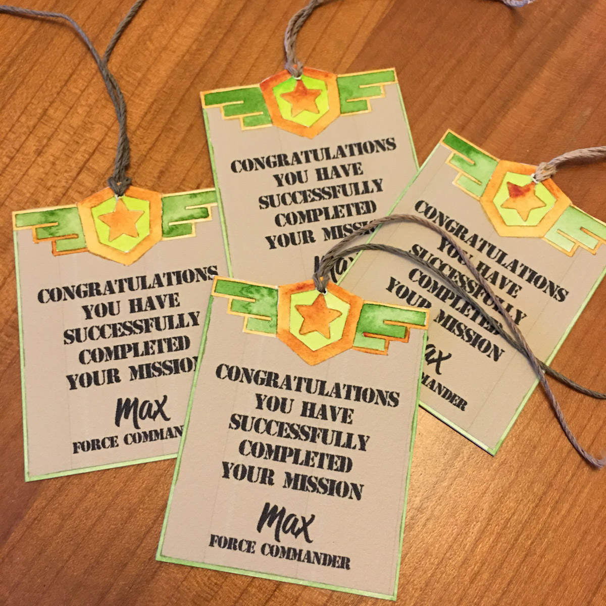 Bag tags were also created to add the finishing touch to the thank you bags for guests to take home at the end of the event.