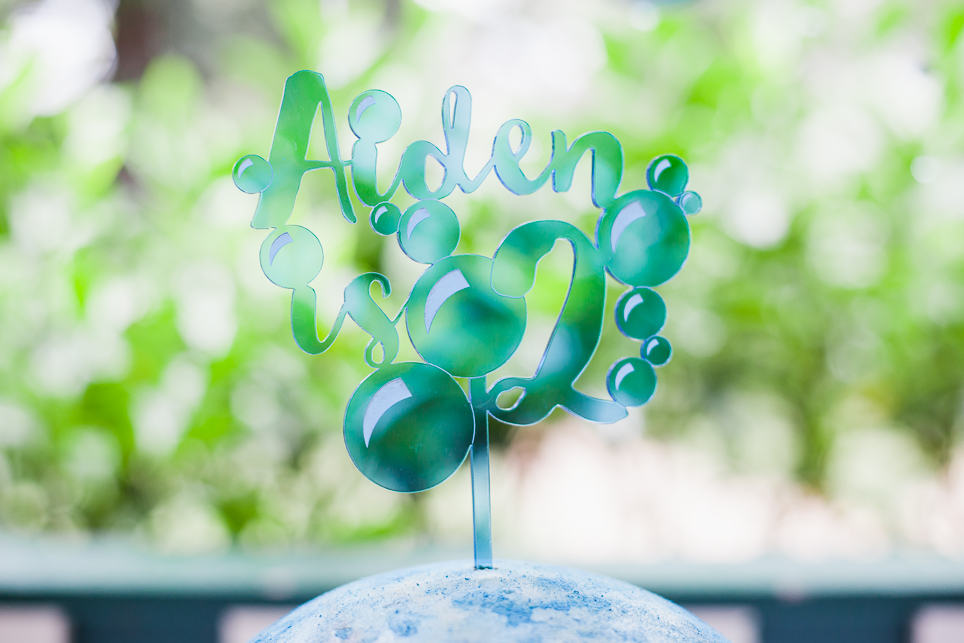 We hosted a beautiful bubble inspired birthday part for our son Aiden's second birthday party.