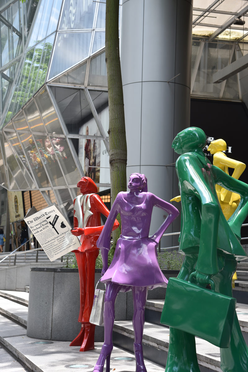 Orchard Road is filled with shops and interesting street art. If only I had more time and money to explore it further.