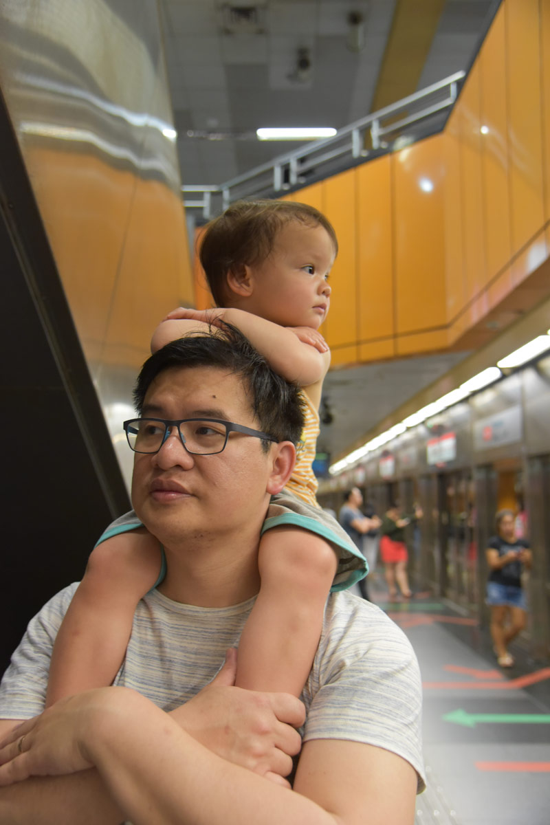 Singapores MRT train system was easy and reliable to get around town on.