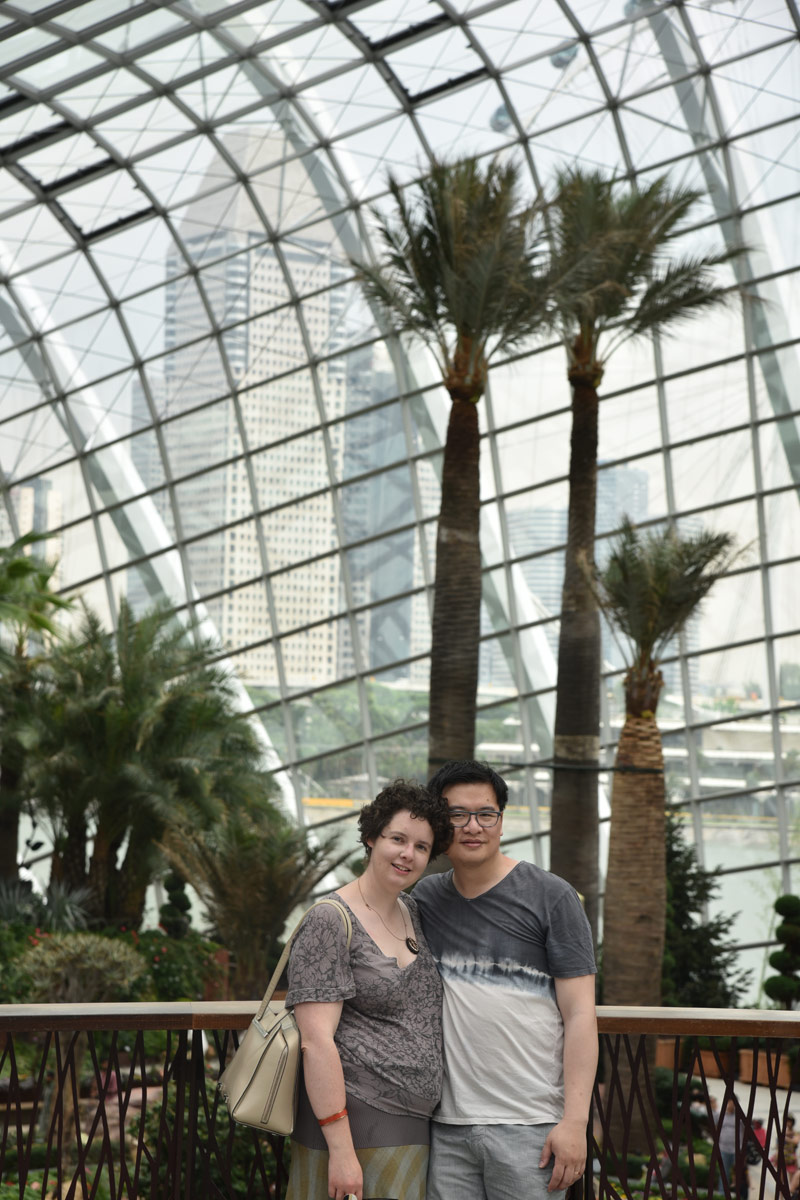 Hanging out together at Singapore's Gardens by the Bay in the Flower Dome.