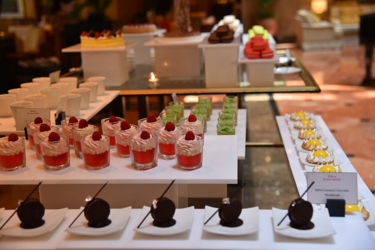 The afternoon tea is served buffet style so you can select which treats you want.