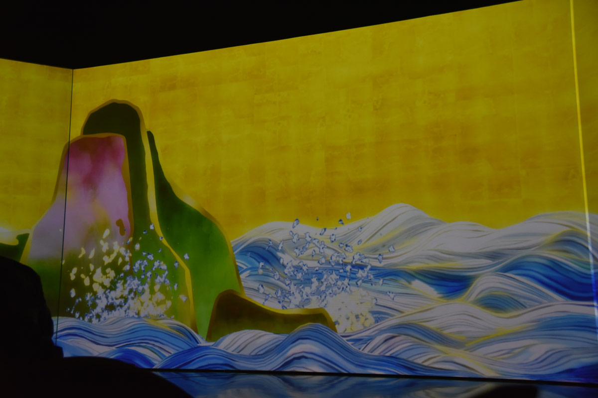 An animation inspired by Japanese Edo screens was mesmerising.