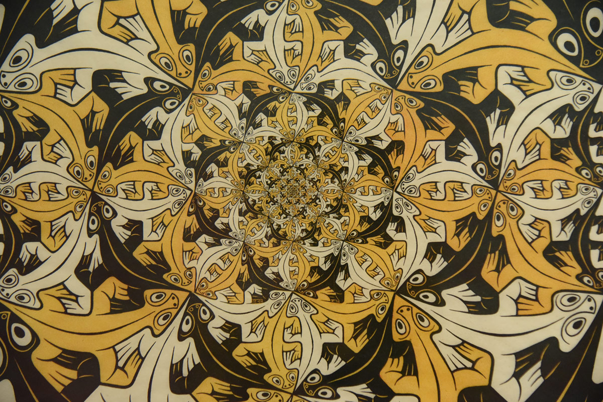 Also on at the museum was an exhibition of Escher Artworks.