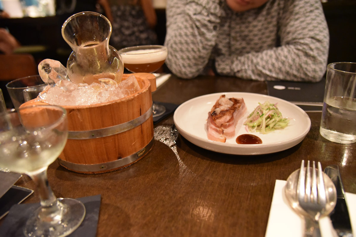 The milk belly pork dish at Pyxie Moss was our favourite.
