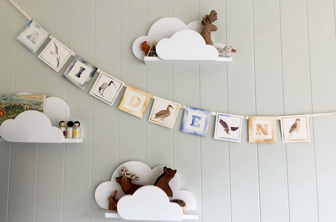 Nursery-custom-name-bunting-decor