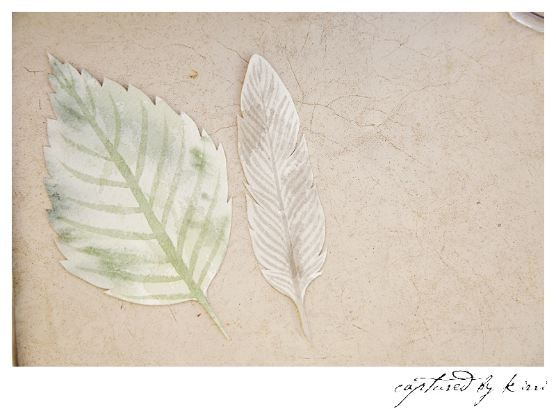 The textures of the watercolour paint reflect the textures of the earth