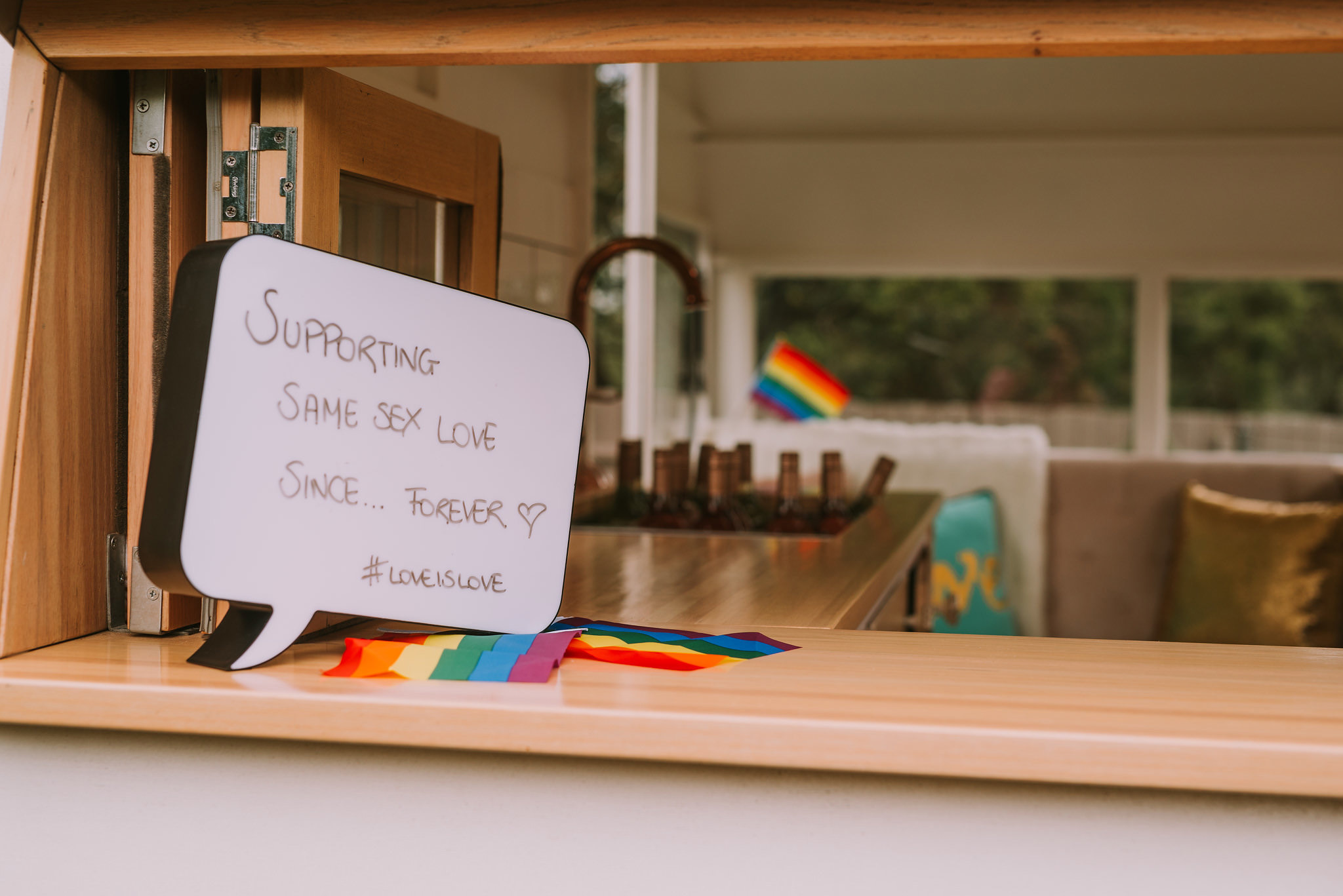 Signage in support of Marriage Equality.Photo by Angus Porter Photography