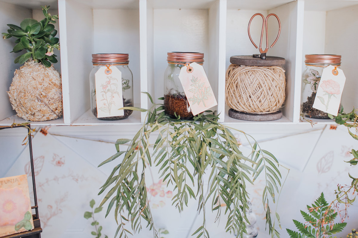 Hand drawn gift tags made the perfect finishing touch to the take home gifts of botanical jars