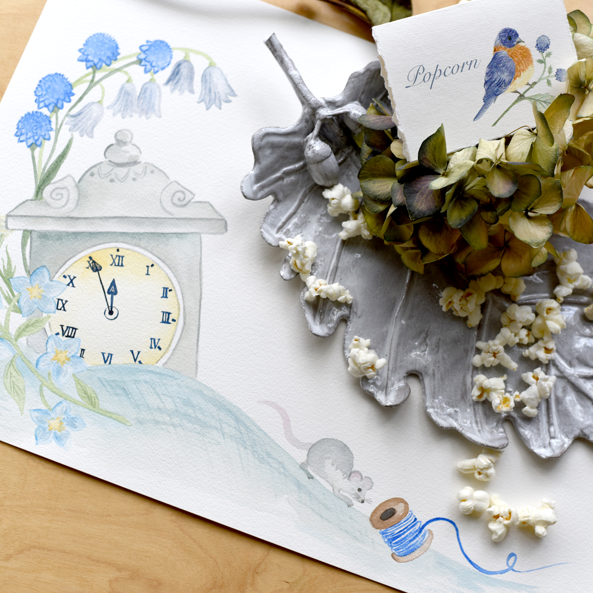 Custom illustrations and event paperie for a Cinderella themed party.