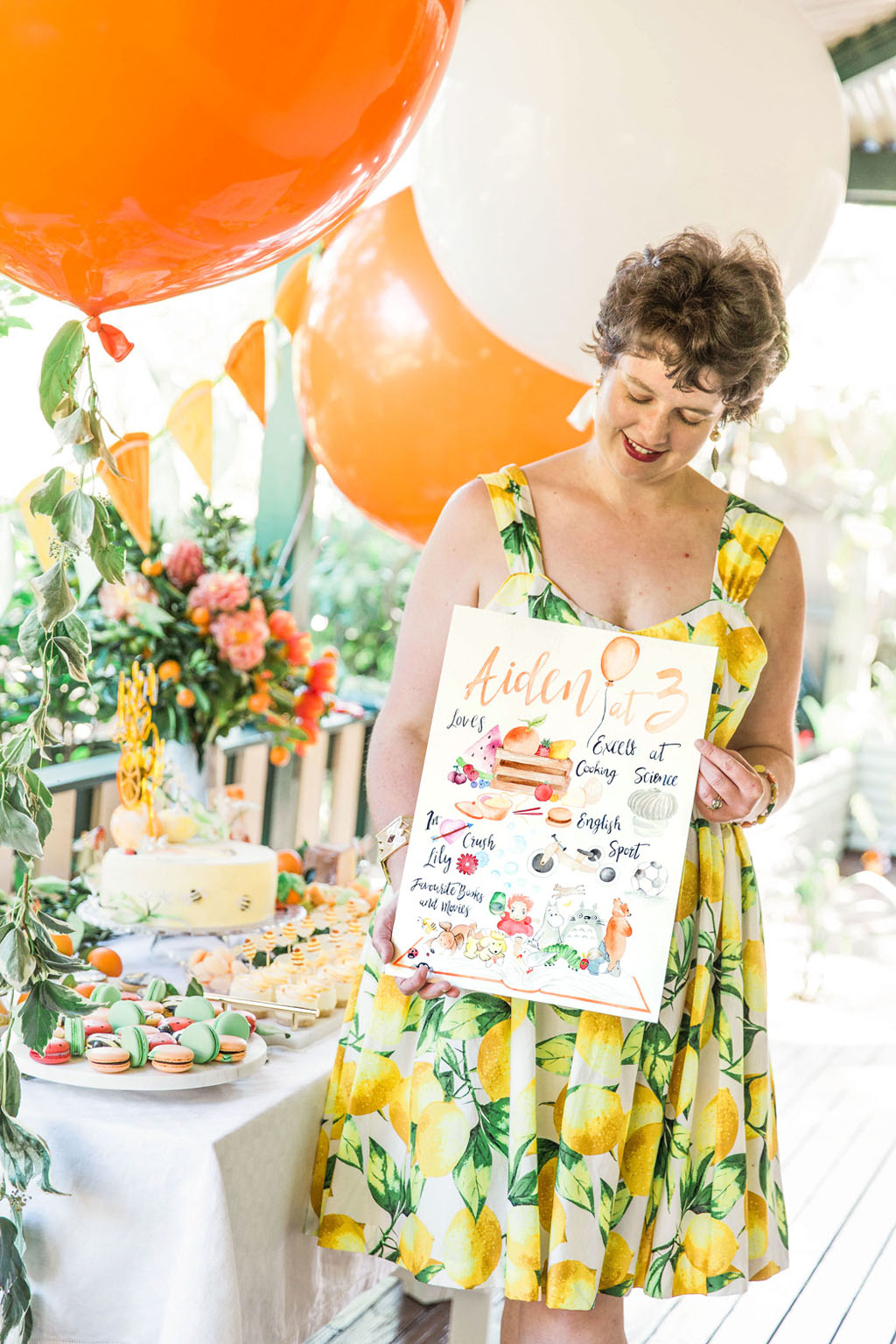Elizabeth Kelly, graphic designer and watercolour illustrator and creative visionary behind ELK Prints. Party design and styling by ELK Prints. Photography by Amelia Soegijono Photography.