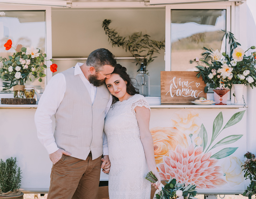 The Bella Vita Bar styled bridal shoot, designed by ELK Prints. Photo by Angus Porter Photography.