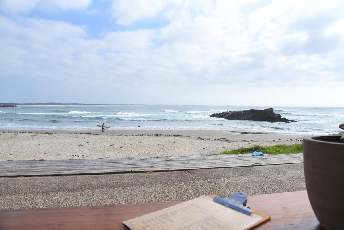Breakfast at the Salty Crew Kiosk overlooking Town Beach