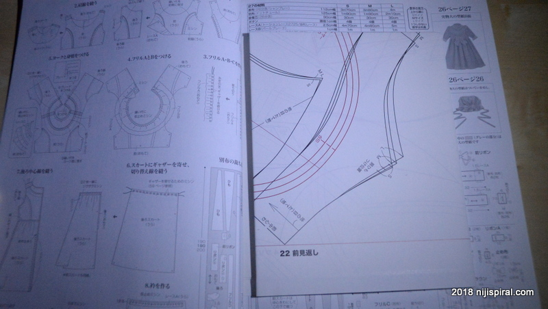 At the end of the magazine they give you the hold out patterns for the dresses and assessories.