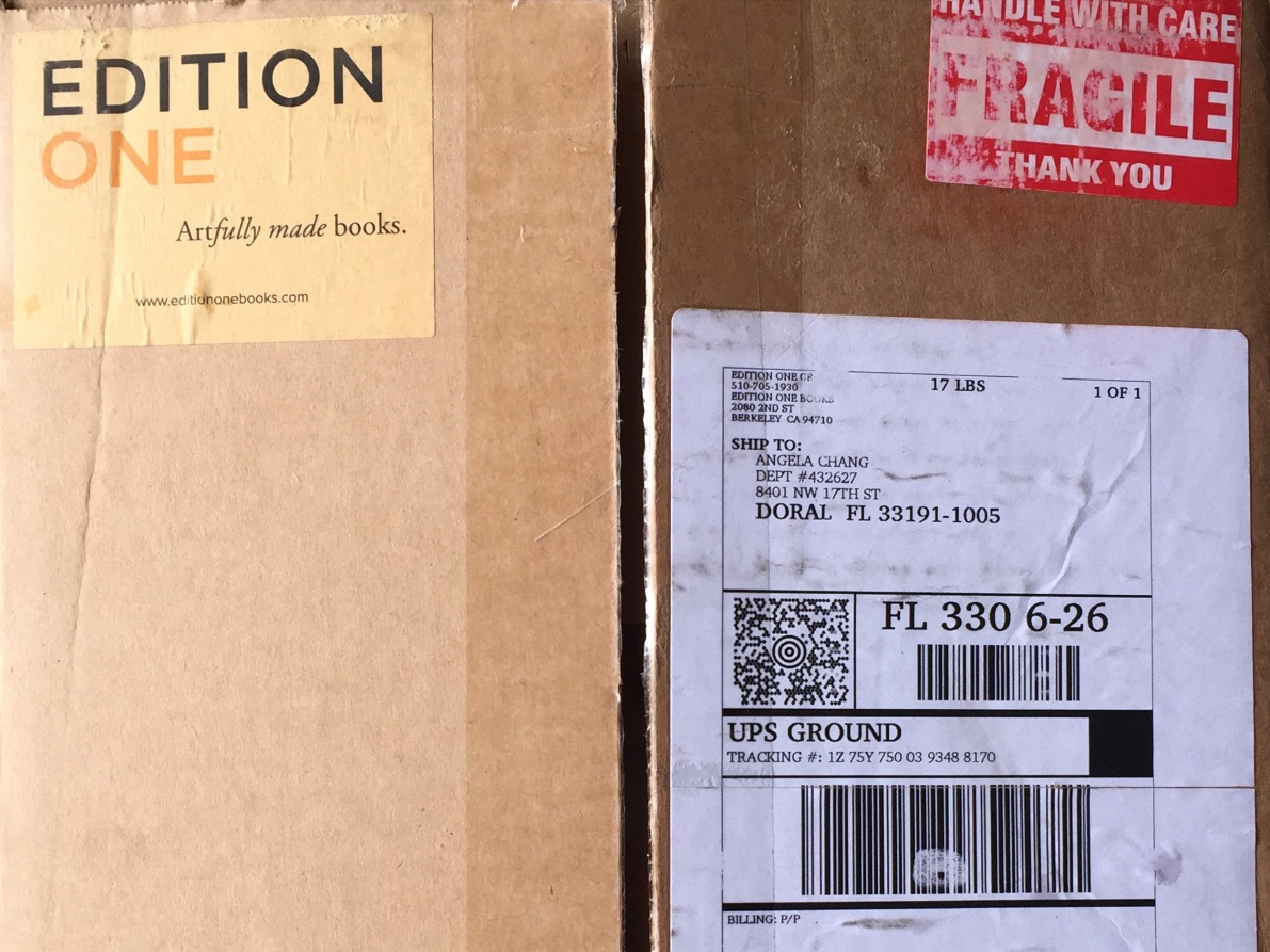 After a lot of back and forth: Send to Print! - The finished books are shipped all the way from California...