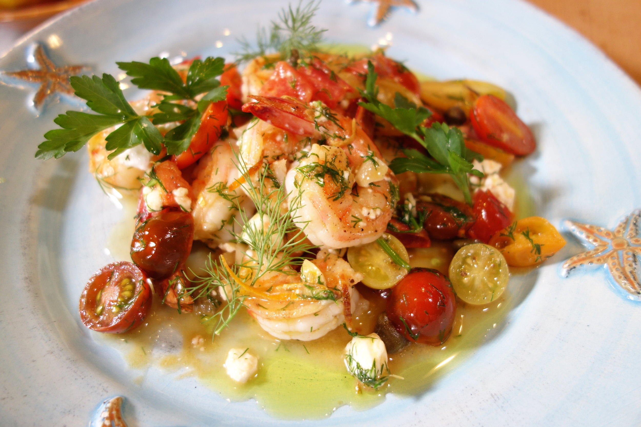 Garlic Shrimp Greek Style ChristineCushing.com