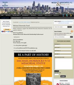 Donate to the Michael Horracks 9/11 Memorial
