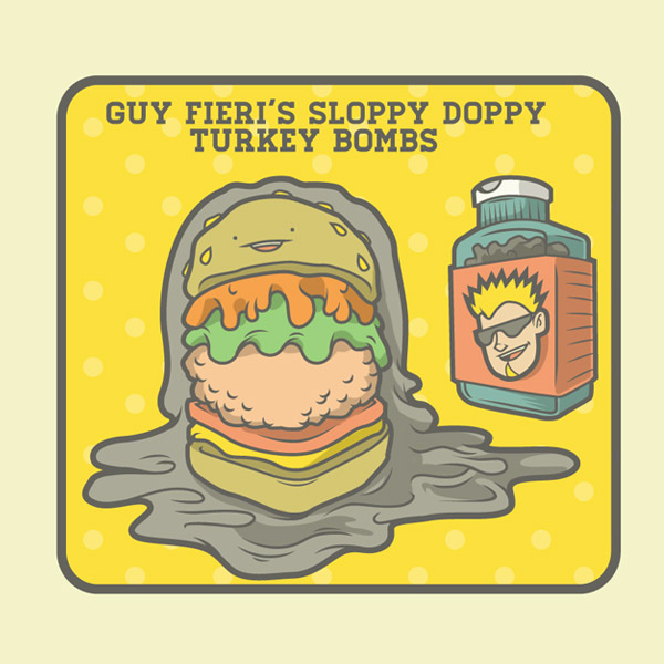 Guy Fieri's Sloppy Doppy Turkey Bombs.