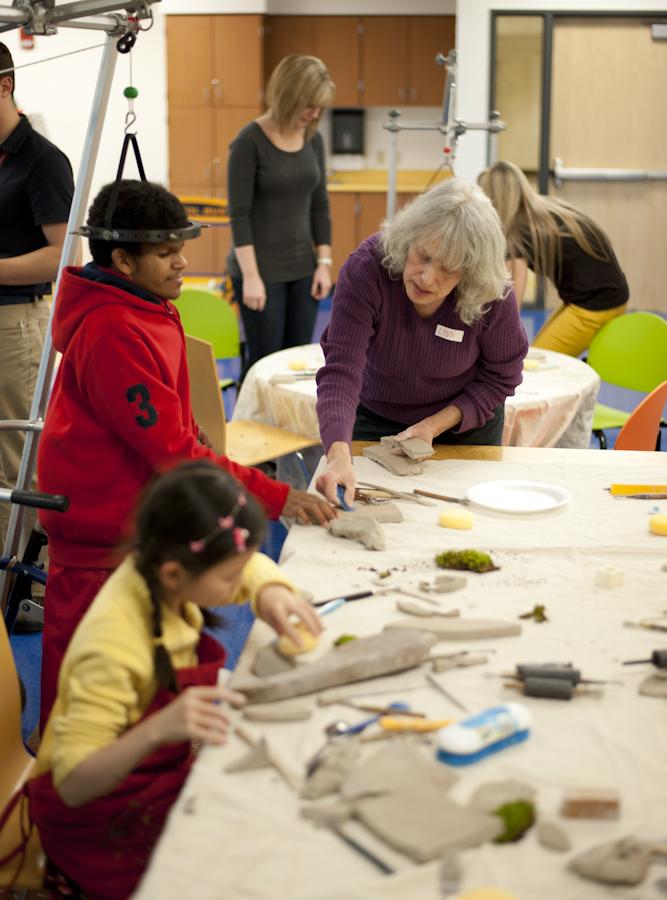 Ceramic workshop at Shriners