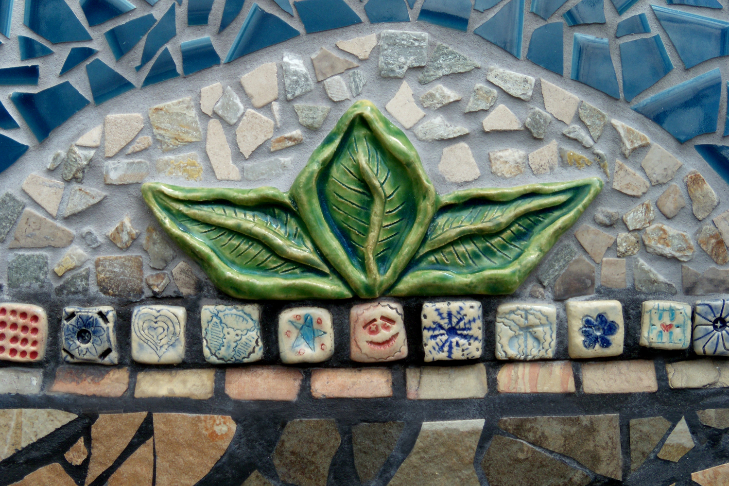 Lynn Takata, decorative border for Salem Peace Mosaic
