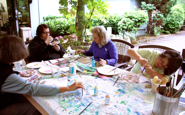 Ceramic relief workshop with Lynn Takata