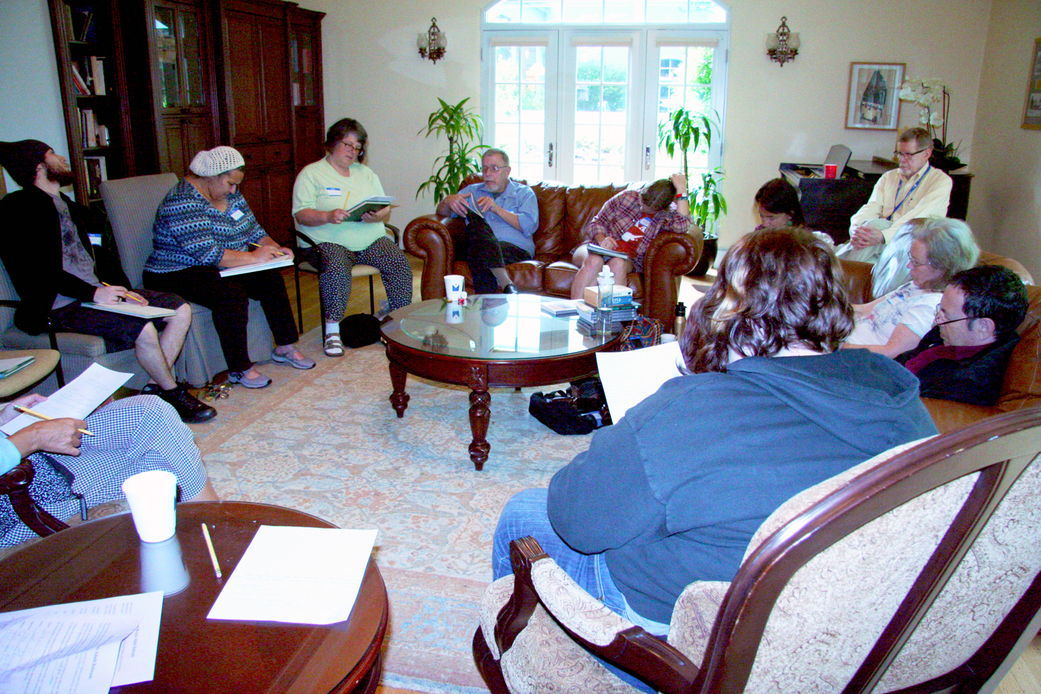 Poetry workshop for the Marquam Mosaic