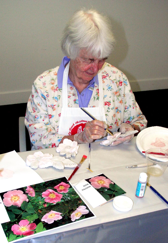 terwilliger plaza with Lynn Takata, painting roses.jpg