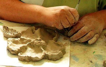 Sculpting a Nootka rose