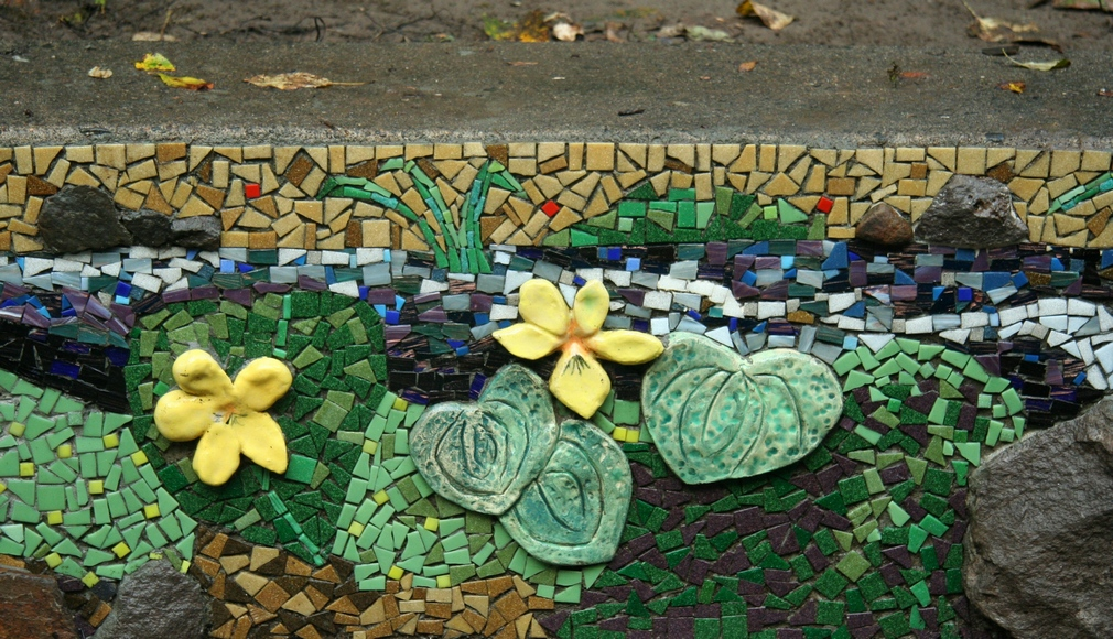stream violets and creek mosaic
