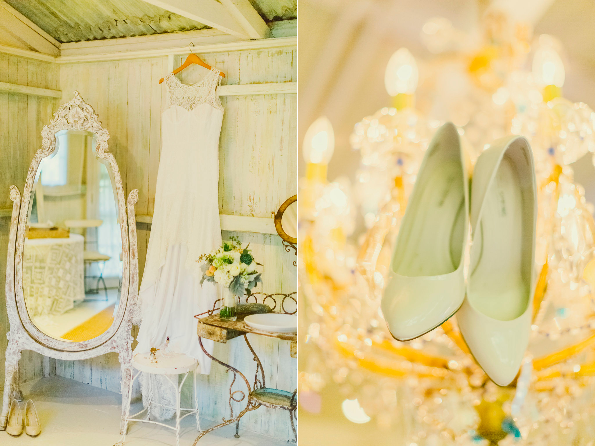 all the litle detail at the haiku mill little cottage bride dress and shoes