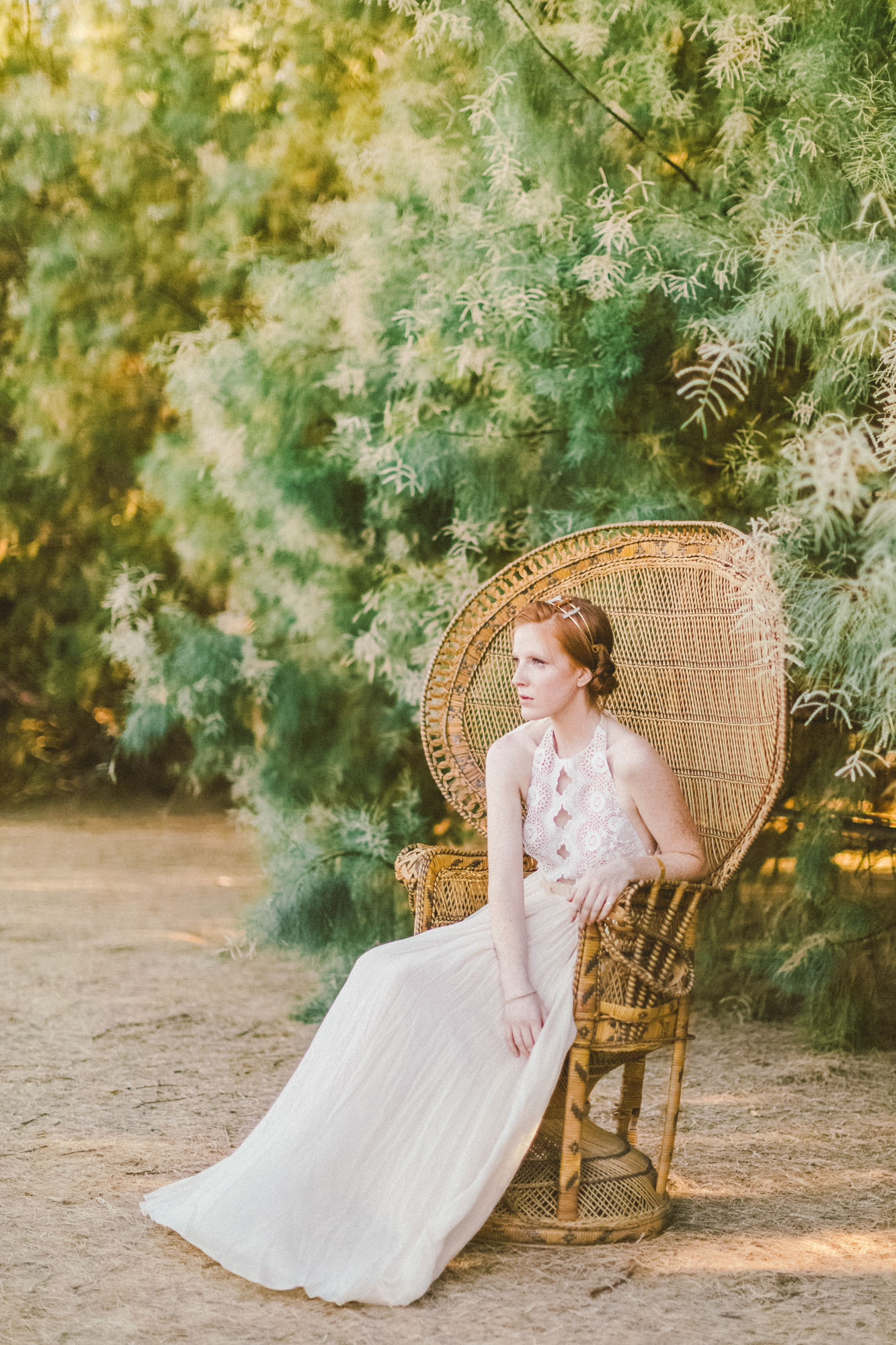 Glamorous chic bride wedding inspiration for california