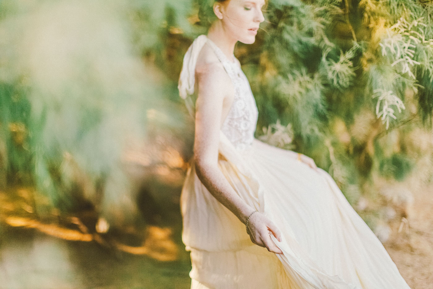 Delicate and whimsical bride Hawaii destination wedding photographer