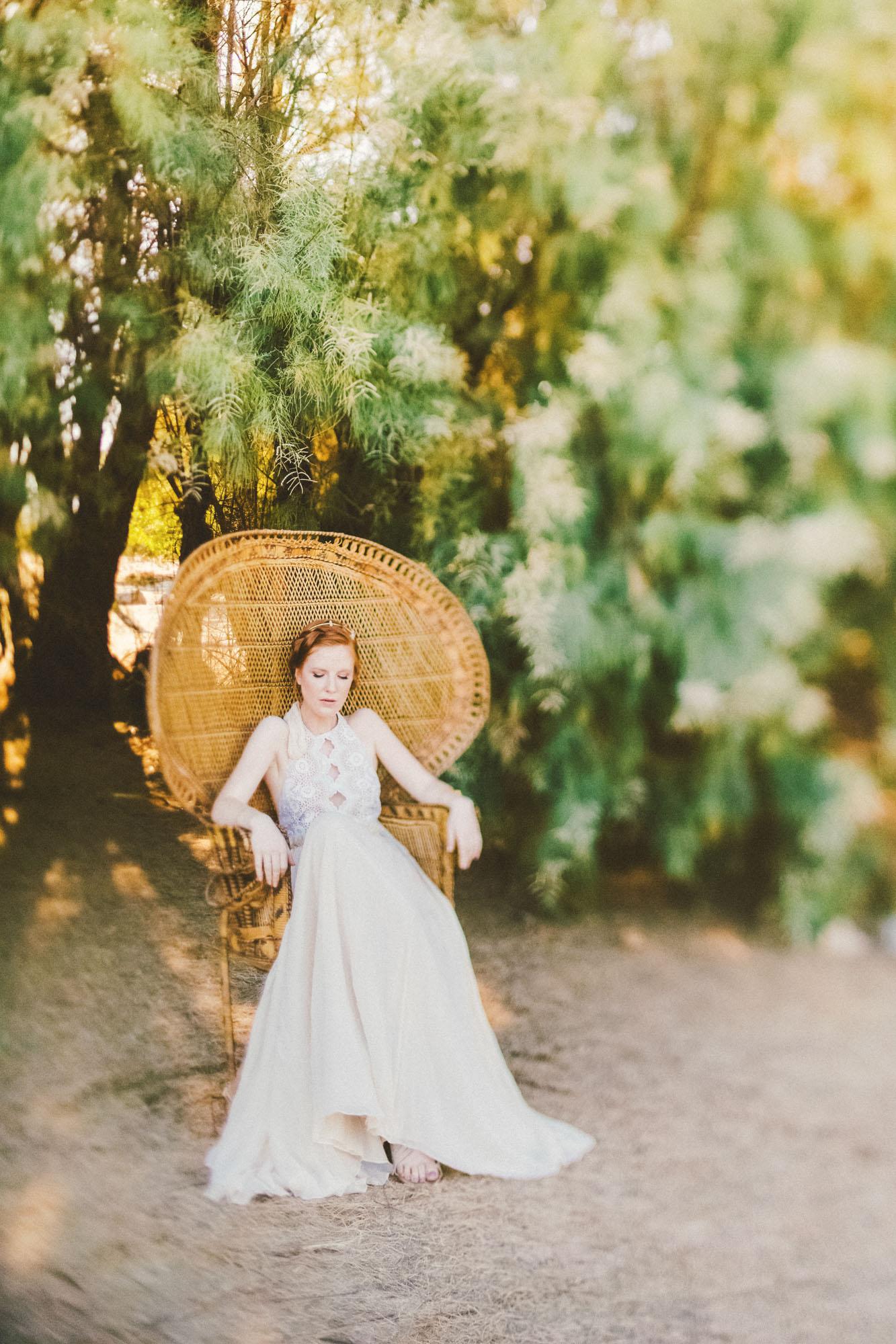 Boho chis Bridal inspiration Joshua tree california wedding photographer