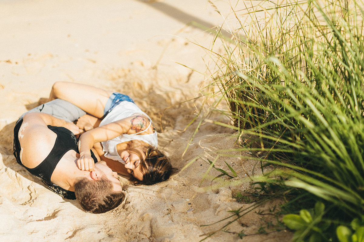 beach cuddles forever with my bae