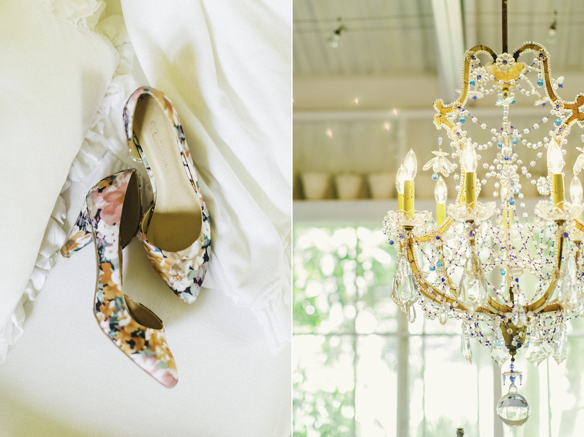 exquisite little details shoes and chandelier