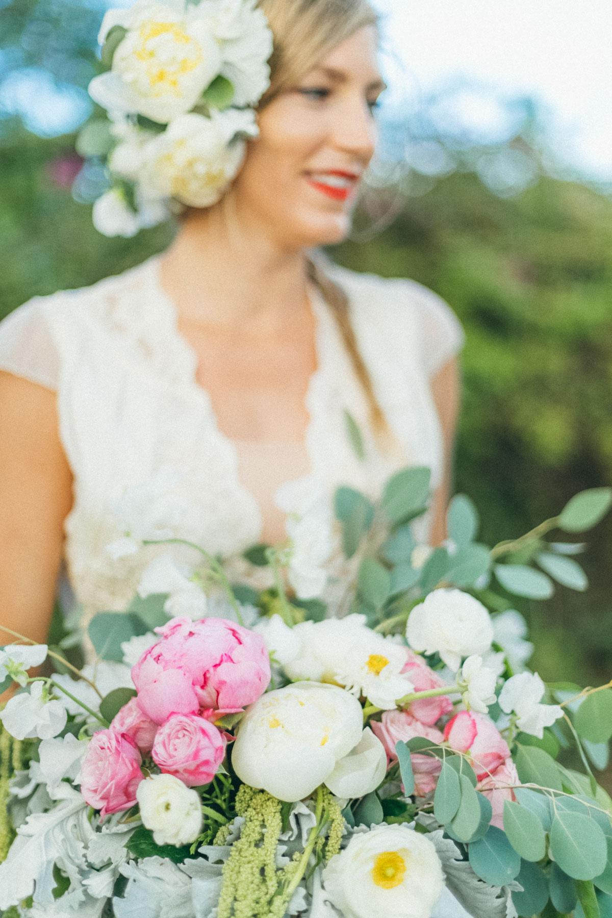 Maui pink colorful couture floral design bouquet