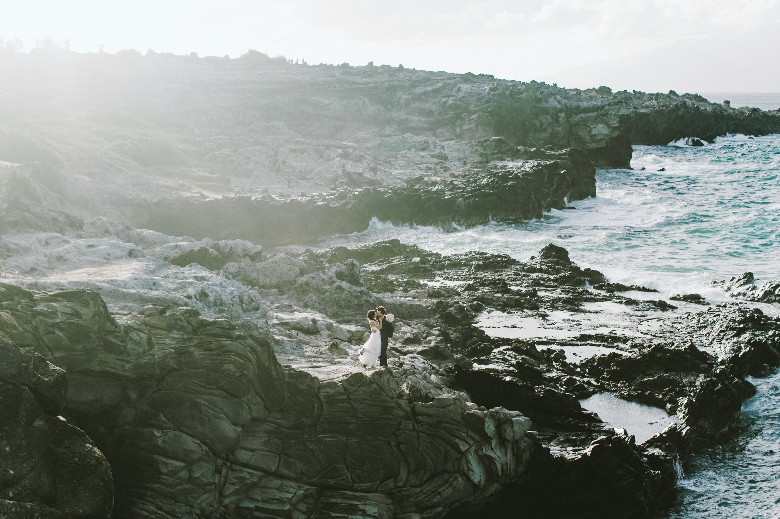 Epic ironwoods clifft view in kapalua for maui wedding photography