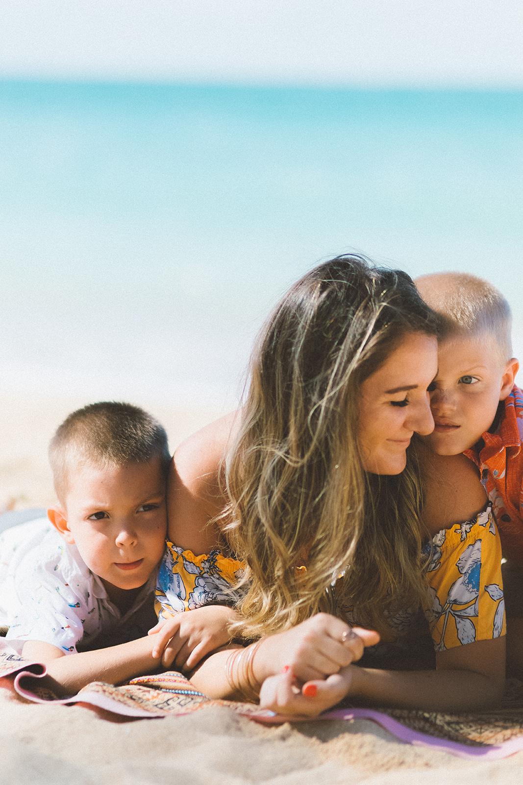 Maui Ohana bainca bishop and her two boys