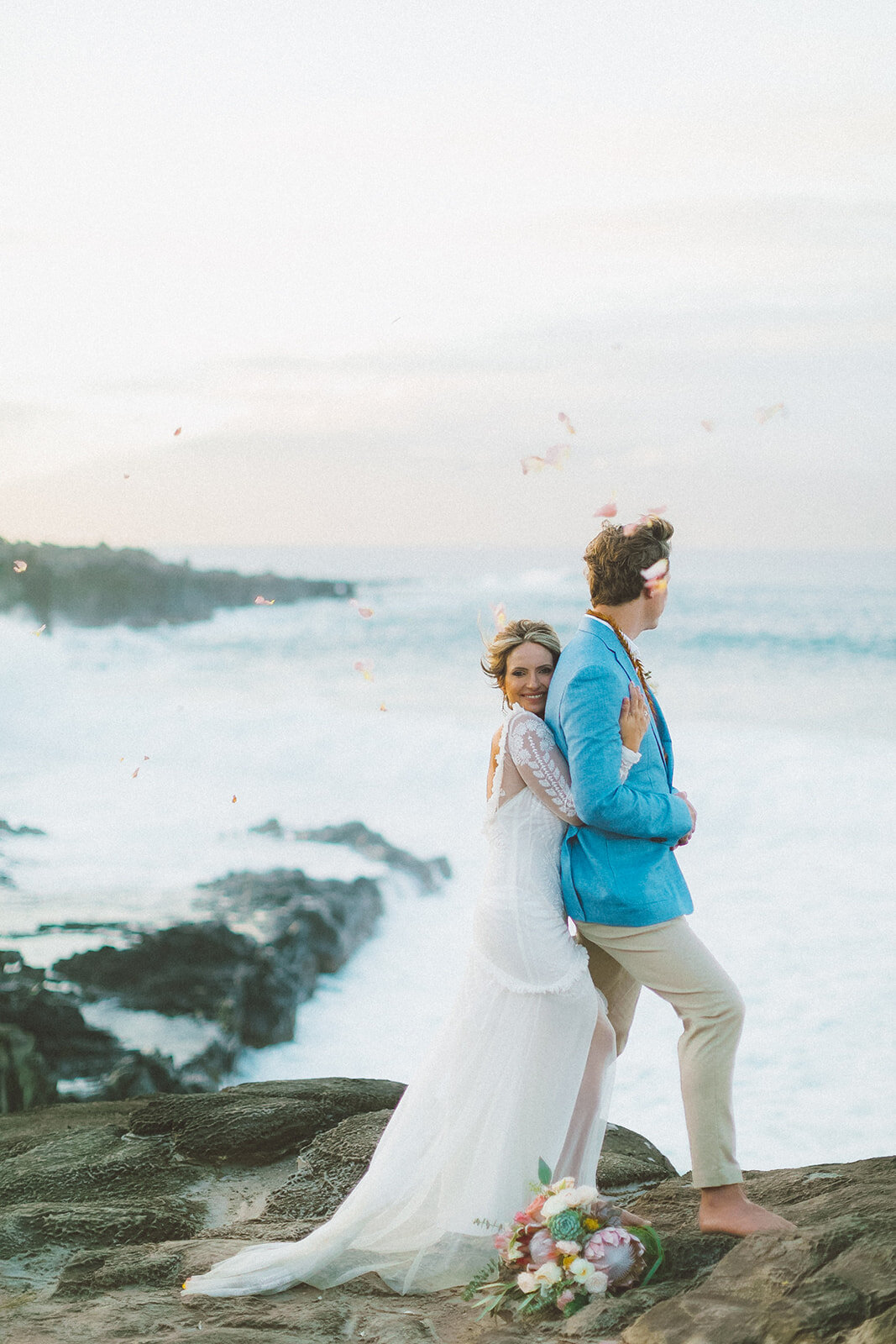 Maui Ironwoods wedding photography cliff in Kapalua Hawaii